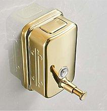 HTBYTXZ Soap dispenser wall mounted golden