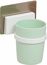 HTBYTXZ Toothbrush Cup magic sticker Green & White