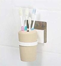 HTBYTXZ Toothbrush Holder Magic Sticker Beige &