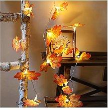 Htipdfg String lights 10m 6m Maple Leaves Led