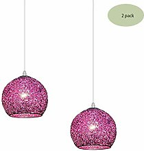 HTL 2 Pack Pendant Light Fitting,Round Hollow
