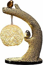 HTL Birds Homing Accent Lamp Natural Polyresin