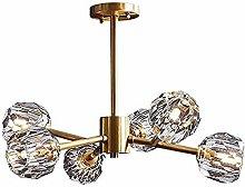 HTL Brass Sputnik Chandelier Lighting Modern