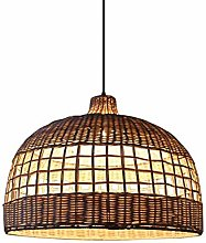 HTL Decorative Lights Bamboo Chandelier Weave