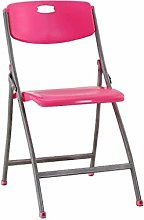 HTL Folding Chair Folding Desk Chair Red Padded