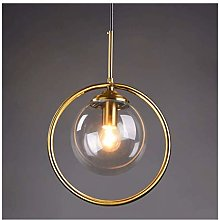 HTL Glass Chandelier Simple Modern Lighting