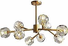 HTL Gold Sputnik Chandelier 9 Lights Starburst