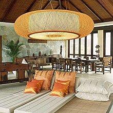 HTL Handmade Bamboo Chandelier Tropical DIY Wicker