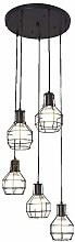 HTL Industrial Spiral Pendant Lighting with 5