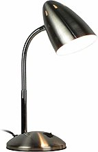HTL Metal Small Desk Lamp Learning Office Reading