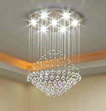HTL Modern Crystal Chandelier Lighting Flush Mount