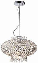 HTL Modern Crystal Pendant Lighting Ceiling