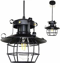 HTL Pendant Lamp, Wrought Iron Retro Industrial