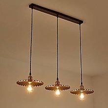 HTL Pendant Light Ring Retro Brass Chandelier