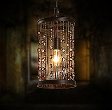 HTL Pendant Lights Industrial Rustic Iron Glass