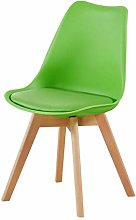 HTL Plastic Dining Desk Chair Solid Wood Legs with