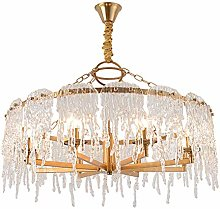 HTL Practical Lighting Modern Round Crystal