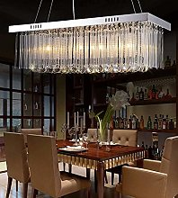HTL Rectangular Chandelier Lighting with Crystal