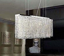 HTL Rectangular Oval Crystal Chandeliers Lighting