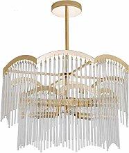 HTL Simple Chandelier Living Room Crystal European