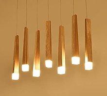 HTL Solid Wood Dining Room Pendant Lamp/Modern Led