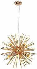 HTL Sputnik Ceiling Lamp Chandelier,8 Light Rural