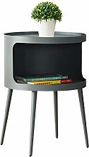 HTL Useful Nightstand Bedside Tables, Wrought Iron