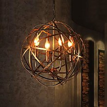 HTL Vintage Ceiling Lighting, Candle Chandelier,