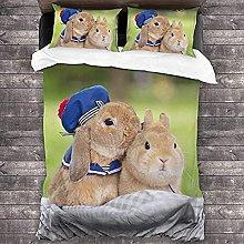 HUA JIE 3-Piece Crib Bedding Set 3 Piece Duvet