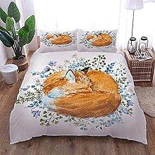 HUA JIE Bedding Kingsize Sets Cotton 3Pcs Bedding