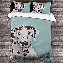 HUA JIE Soft Duvet Cover Dog Animal 3 Piece