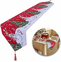 Huahao Extra Long Christmas Table Runners Linen