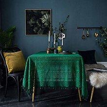 HUALEMEI Crochet Macrame Cotton Woven Hollow Table
