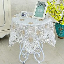 HUALEMEI Embroidered Tablecloths,Lace Floral Table