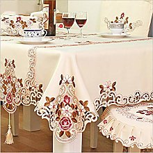 HUALEMEI Embroidered Tablecloths,Multi Sizes
