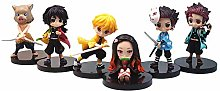 Hualieli Newest 6pcs Demon Slayer Cake Topper