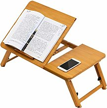 Hualieli Portable Bamboo Laptop Stand Height &