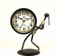 HUANSUN Abstract Figure Desk Clock Decorative