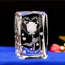 HUANSUN Creative Fashion Crystal 3D Laser Rose