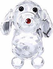 HUANSUN Cute Crystal Dog Figurine Collection Glass