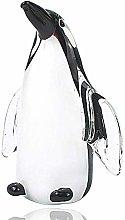 HUANSUN Glass Penguin Figurine Handmade Blown Art