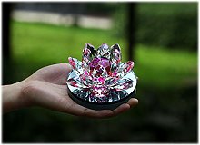HUANSUN Modern Crystal Lotus Ornaments for Home
