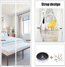 HUANXA Magnetic Screen Door With Strap, Fiberglass