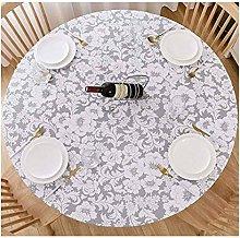 HUANXA Waterproof Round Tablecloth for Indoor