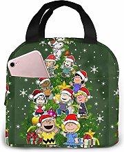 huatongxin Lunch Bag Tote Charlie Brown Tree