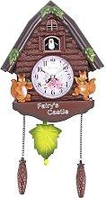 HUBLEVEL Cute Bird Wall Clock Cuckoo Alarm Clock