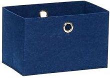 Hubsch - Medium Blue Square Felt Storage Basket -