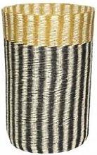 Hubsch - Stylish Storage Basket - Mustard, Black
