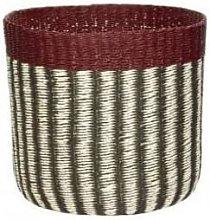 Hubsch - Stylish Storage Basket - Red, Black and