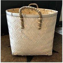 Hubsch - Stylish Storage Basket - White - 39cm x